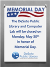 Library Closed For Memorial Day