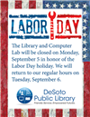 2016 Labor Day Closing Sign