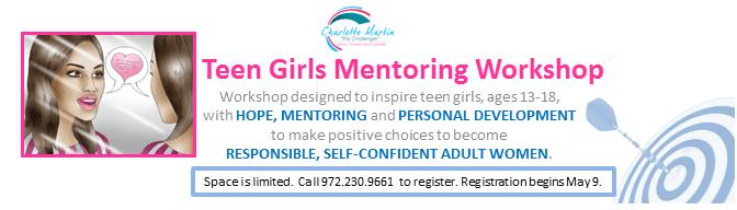 Teen Girls Mentoring Workshop Banner