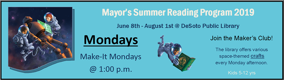 Mayor's Summer Reading 2019--Mondays banner