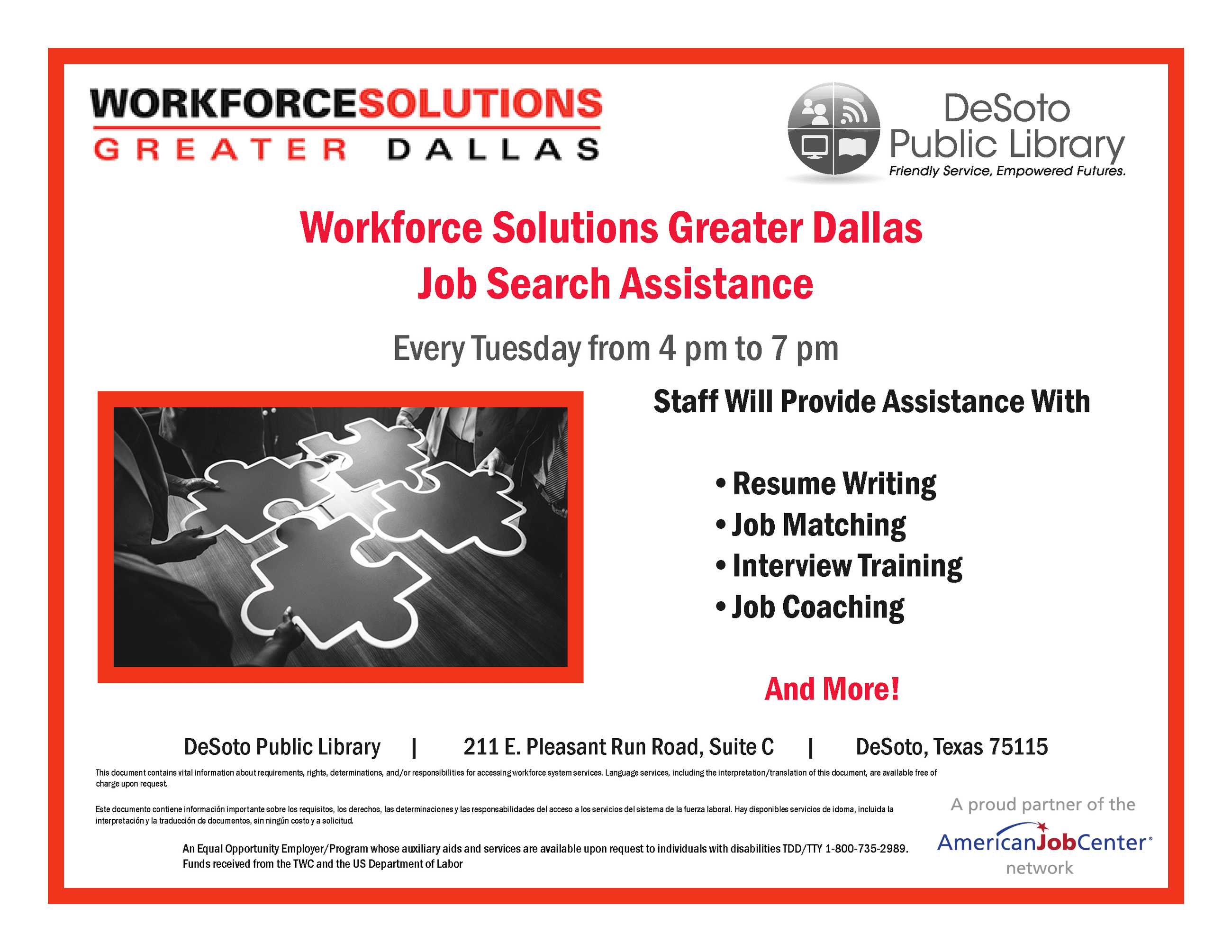 Workforce Solutions Greater Dallas library 2019