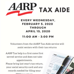 2020 AARP Tax-Aide flyer