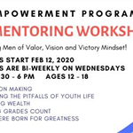 V-Men Teen Boys Mentoring Workshop Spring 2020 banner