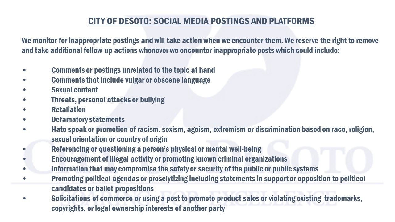 Social Media Guidelines Disclaimer