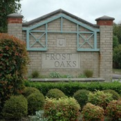 Frost Oaks entry sign