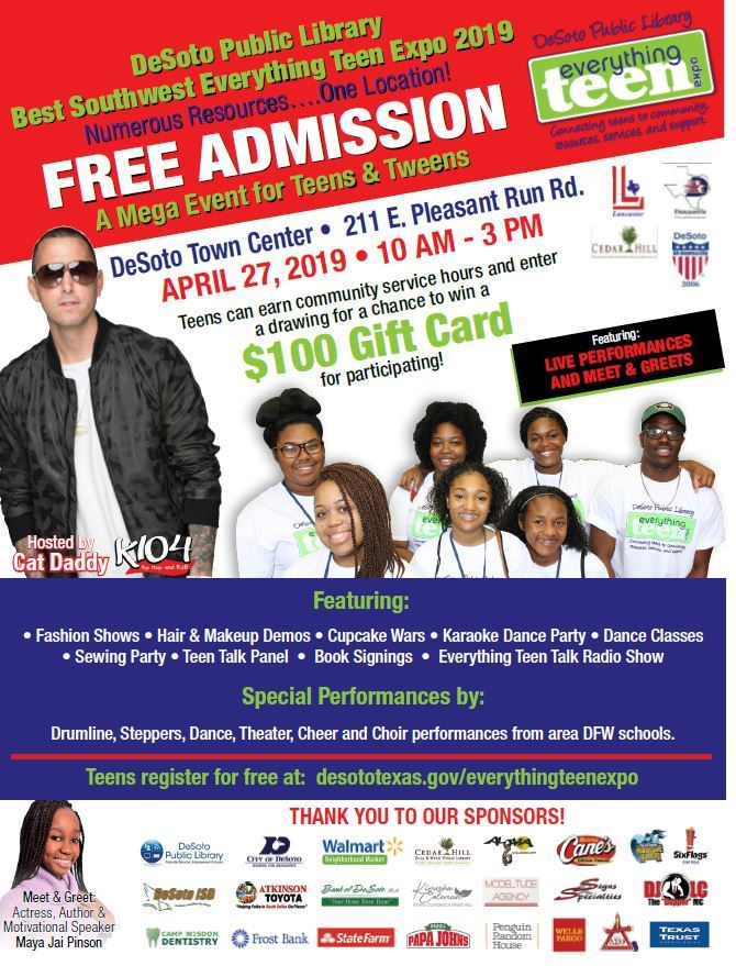DeSoto Teen Expo Flyer 1-19
