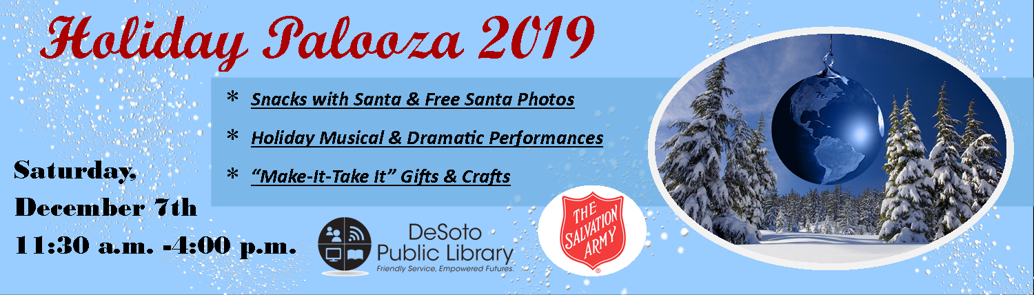 Holiday Palooza 2019 -- click here for more details