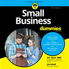 Small Business For Dummies Tyson book cover image--click to access digital audiobook via Hoopla